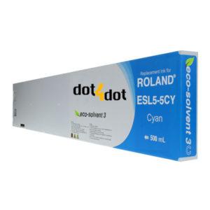dot4dot Roland ESL5 MAX3 Cyan Ink Cartridge