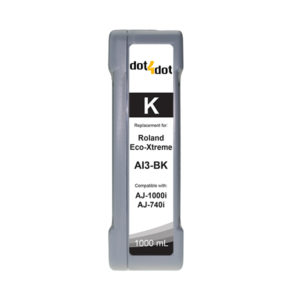 dot4dot Roland Eco-xtreme i Black Ink Cartridge